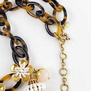 J. Crew Jewelry - J. Crew Statement Necklace Tassels Tortoise Shell